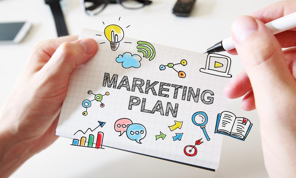 Plano de Marketing de 1 Página da Lucro Digital