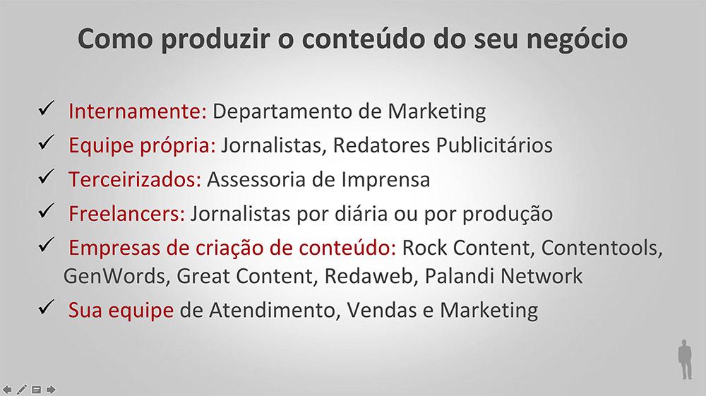 empresas de produção de conteúdo