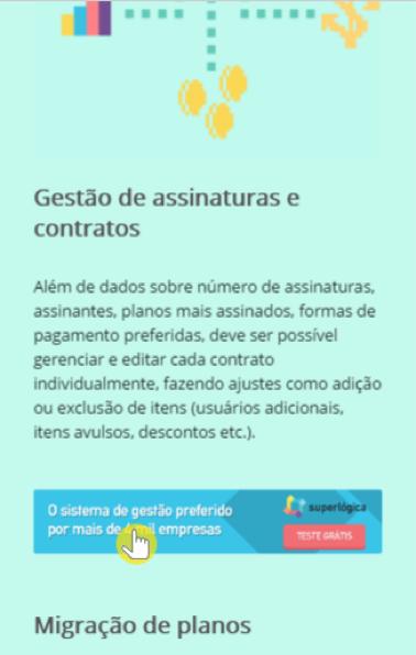 Gravação da interação de um usuário mobile na página sobre pagamento recorrente